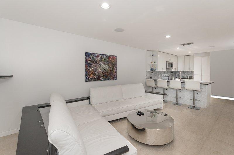 Die geräumigen Wohnbereich bietet Komfort für unsere Gäste