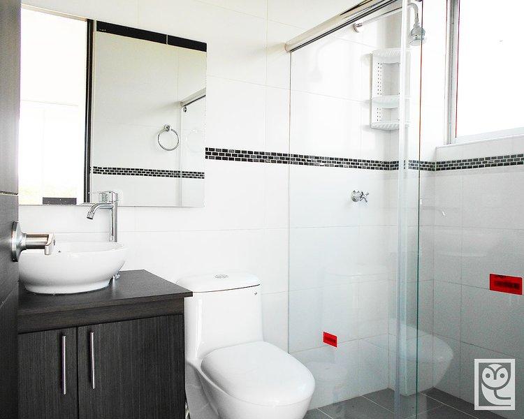 Baño típico de la casa
