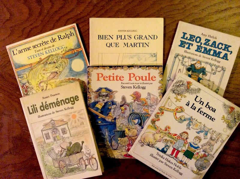 My dad's books in French!
