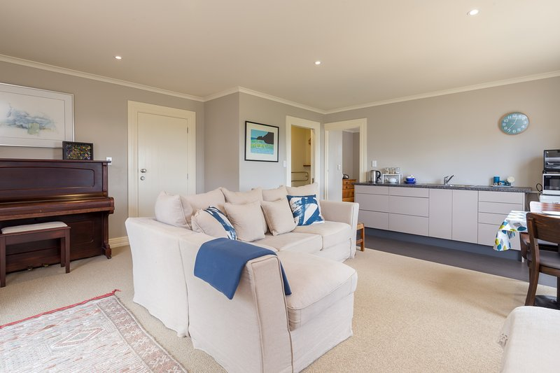 Spacious open plan living with heat and eat kitchen