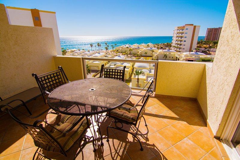 Silla, muebles, balcón, comedor, mesa