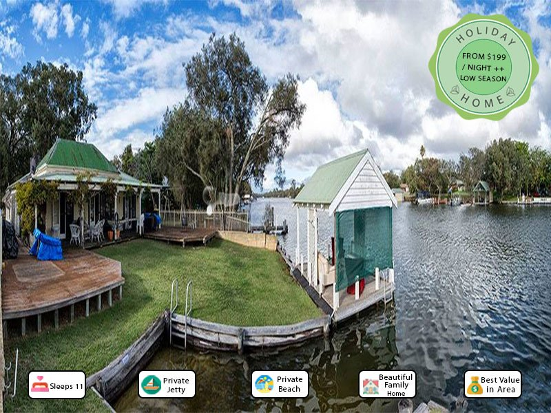 Mandurah Riverfront Holiday Rental - Own Mooring, vacation rental in South Yunderup
