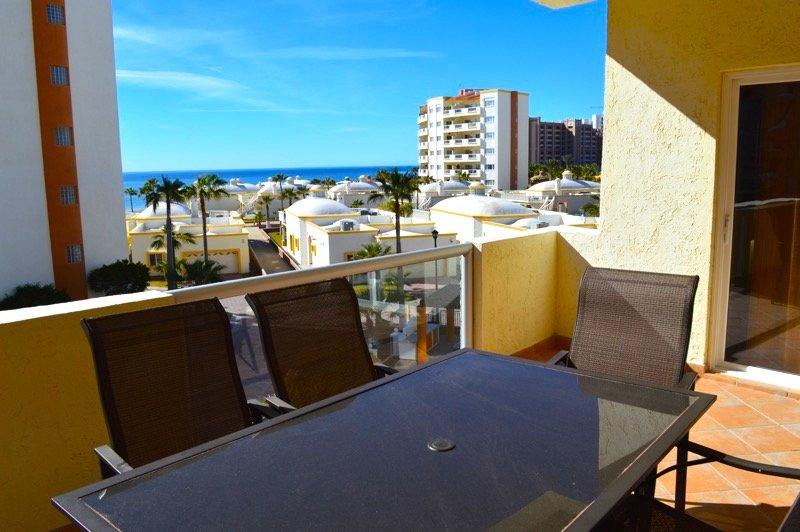 Vue de la mer de Cortez depuis le balcon