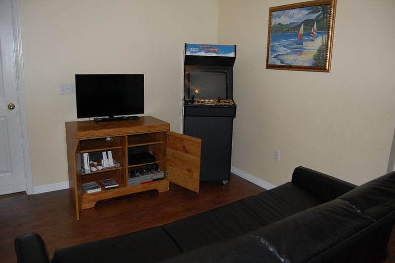 Snug, with Arcade and Games consoles