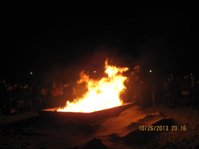Bonfire on beach...October & December