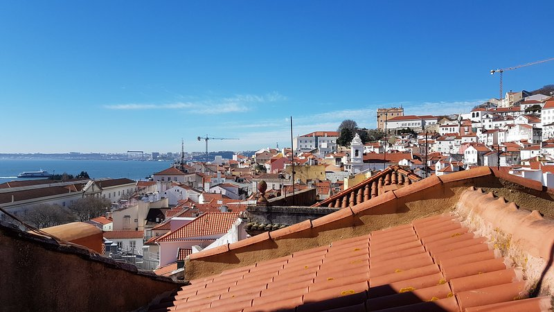 Overlooking the Tagus River from the bedroom