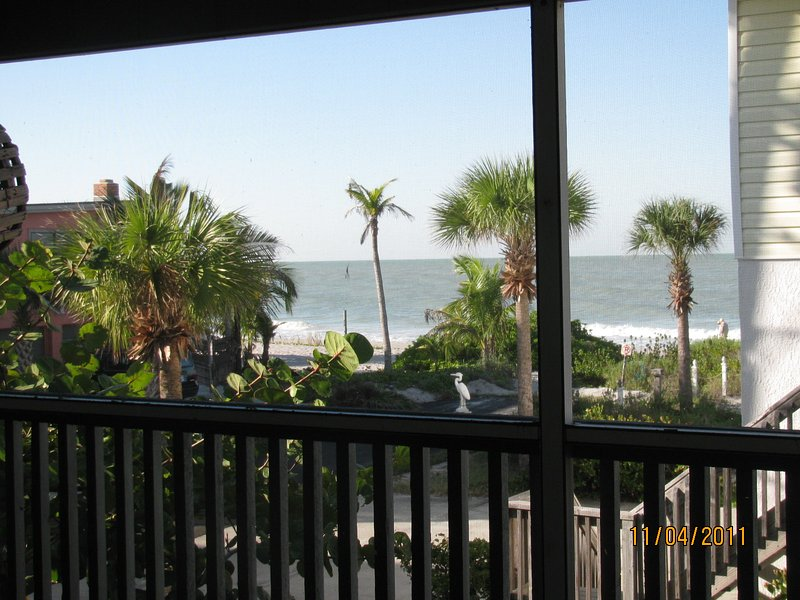 View of the beach and Gulf of Mexico from upstairs deck which is off the Master Suite