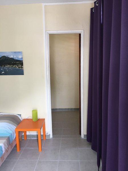 Door to the dressing room