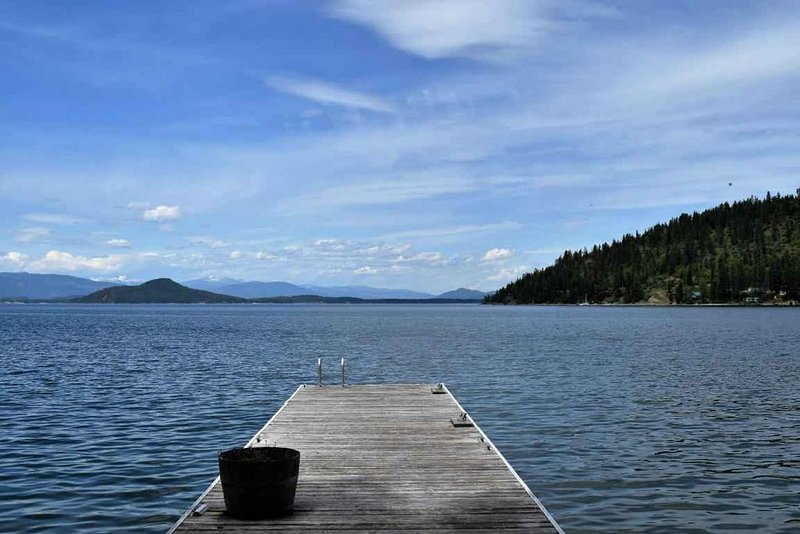 Private dock on Lake Pend Oreille