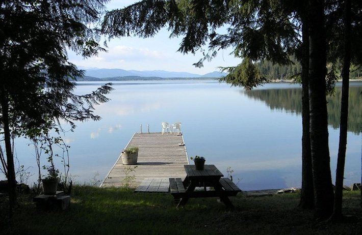 Dock and picnic area