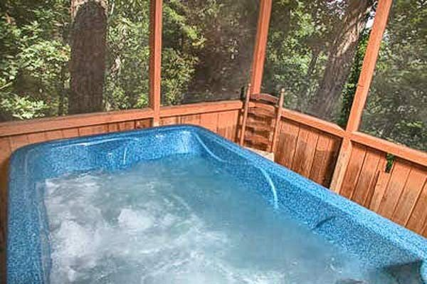 Cozy up in the Hot Tub
