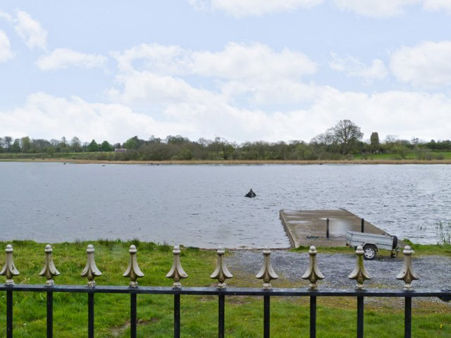 Loughglinn lake and private jetty from the garden of the property
