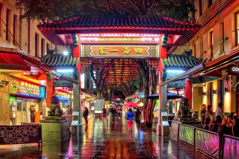 A 1min walk from Sydney's Chinatown.