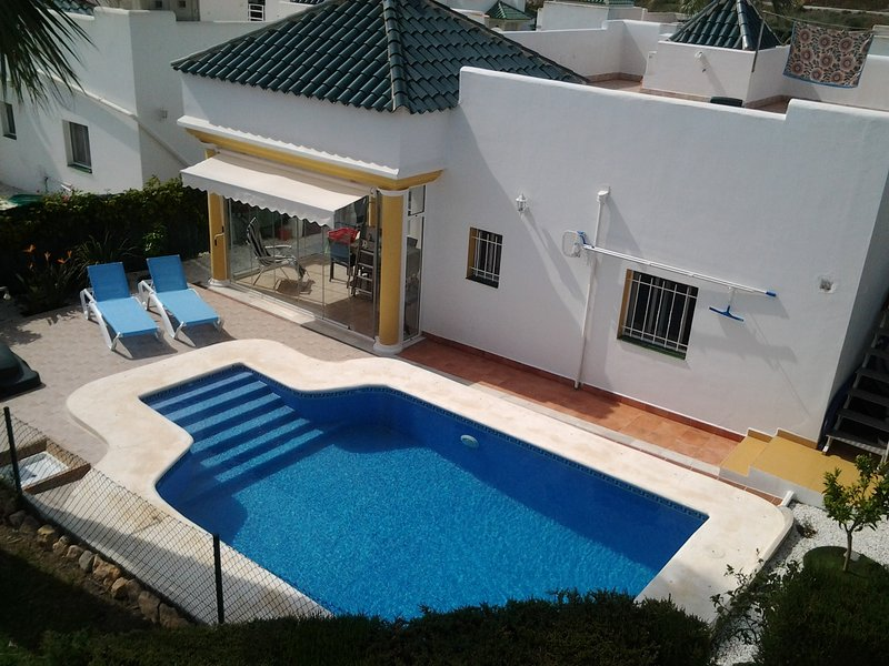 Pool with open terrace
