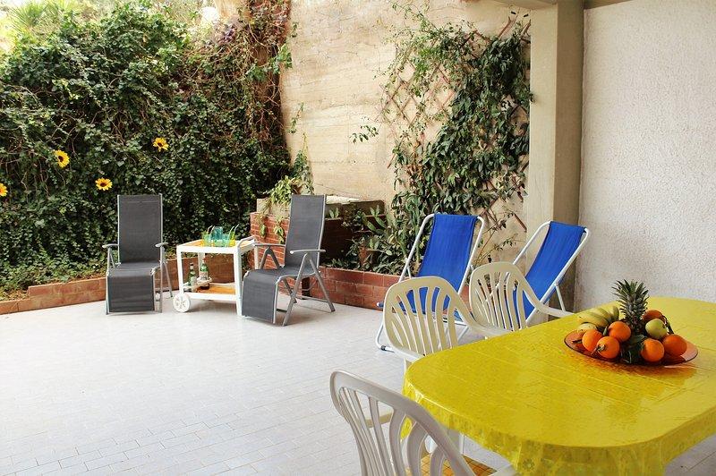 Finamente decorados apartamento com vista panorâmica para o Golfo de Castellammare.