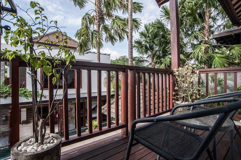 Balcony main villa looking towards annex