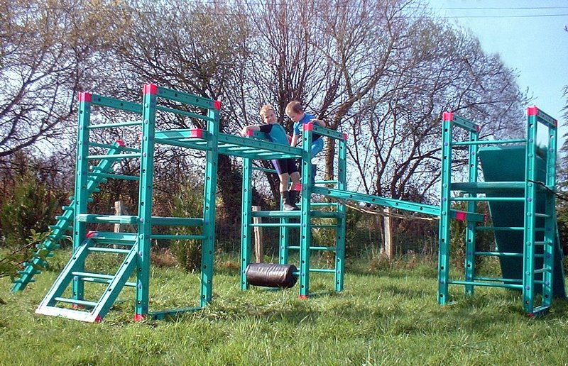 Children love playing on the climbing frame