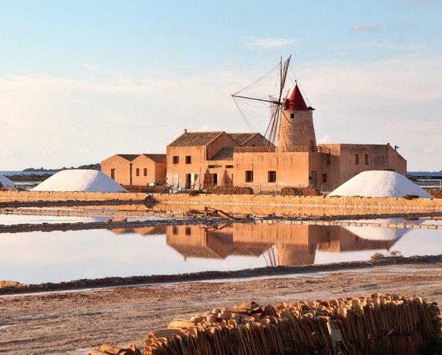 Saline and windmills