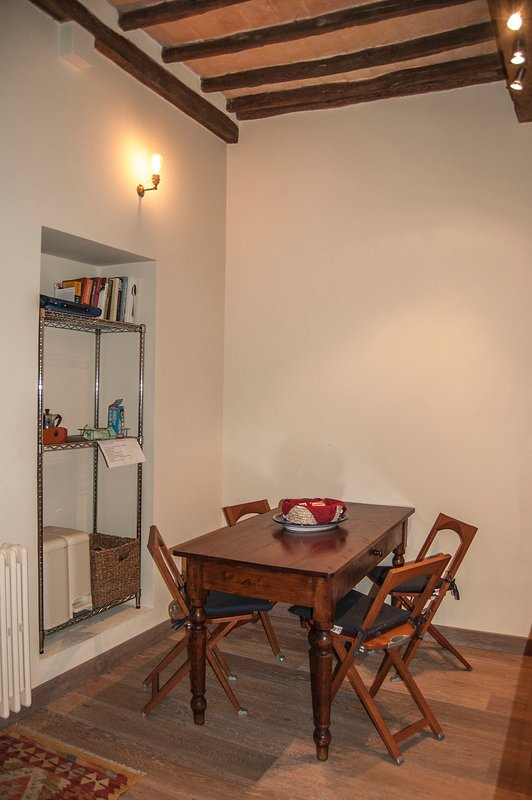 The breakfast area in the kitchen