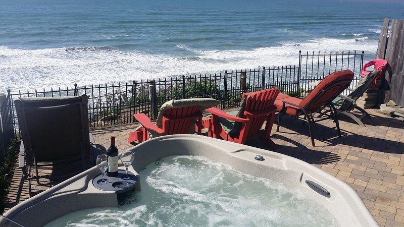 Vordere Reihe Sitzplätze auf der Terrasse oder im Whirlpool!