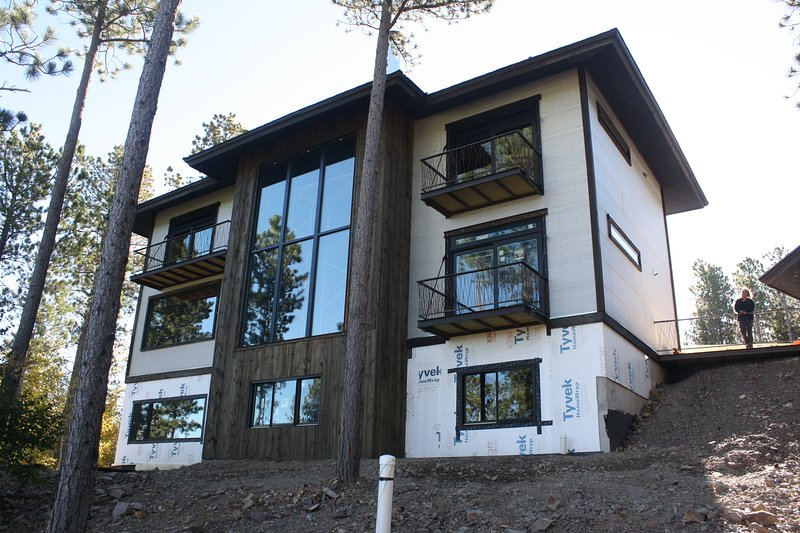Lodge from Canyon (taken during construction - completed now)