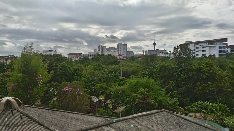 View from balcony to city. 4TH FLOOR.