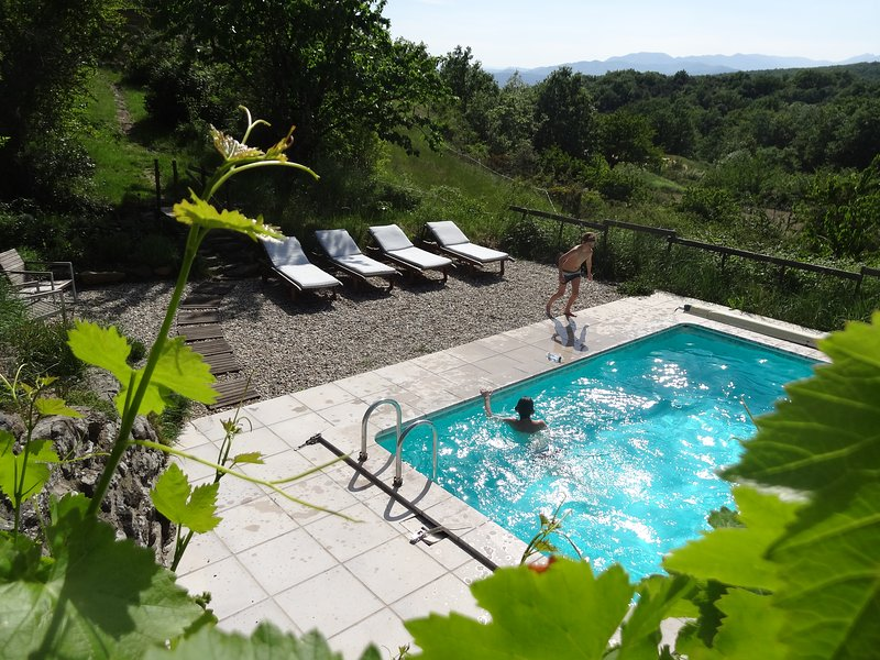 The Vallon des Etoiles: private heated pool in South Ardèche