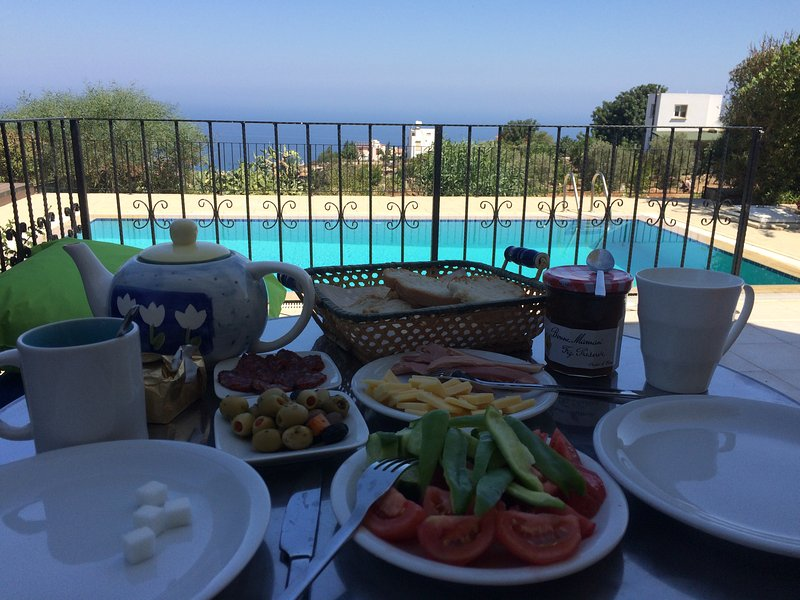 A peaceful breakfast facing the Mediterranean! Best way to start the day!
