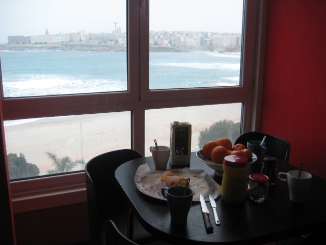 Start your day with breakfast overlooking the sea