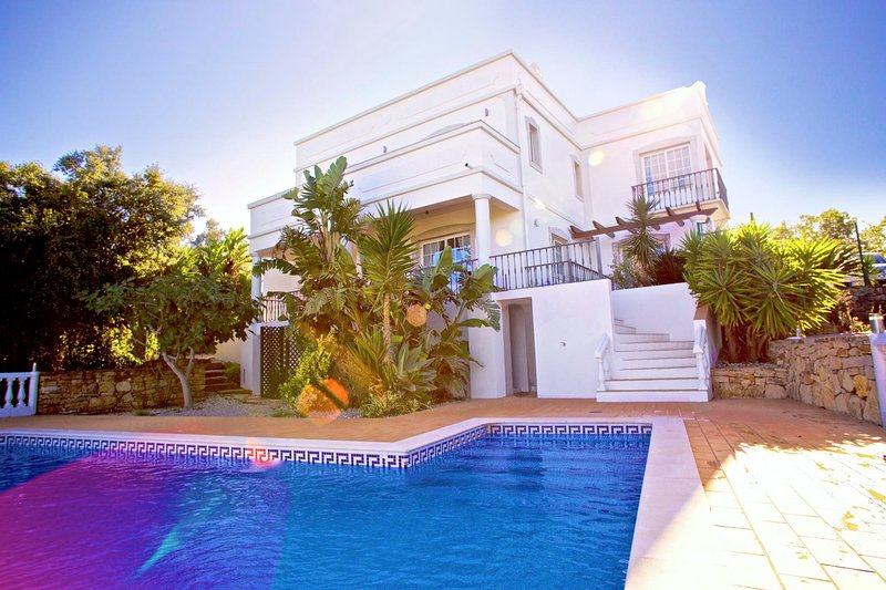 Salt water heatable private pool and terrace