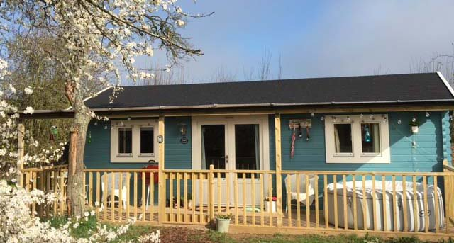 Cuttermoon Lodge, a 1 bedroomed self catering log cabin sleeps up to 4 Escape to a rural retreat.