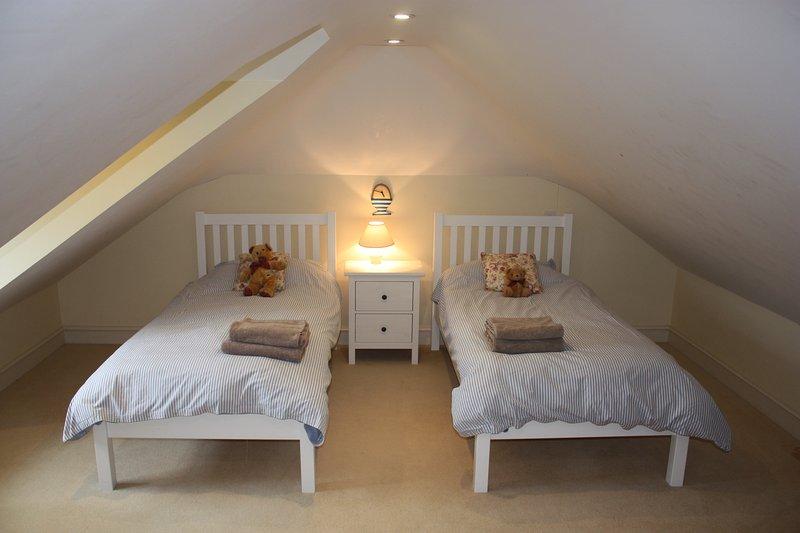 Children love the bedroom in the loft.