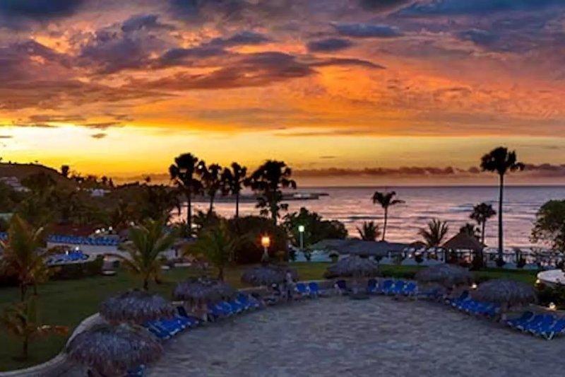 Sunset vista na propriedade.
