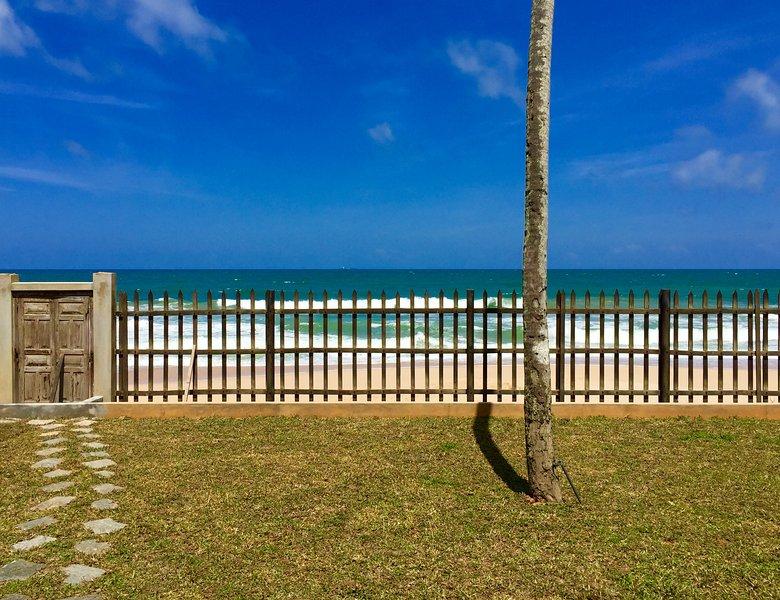 Private beach gate
