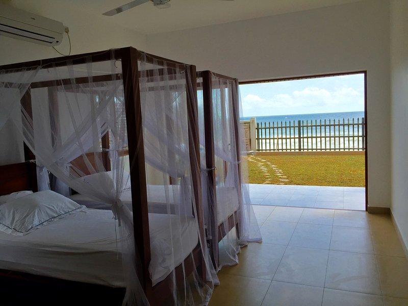 Downstairs bedroom - sleeps up to 3 plus cot