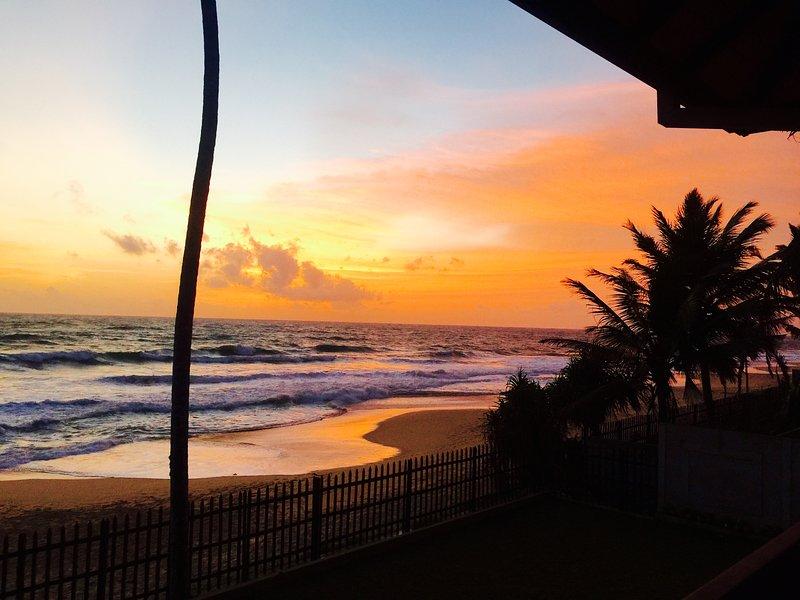 West facing sunset
