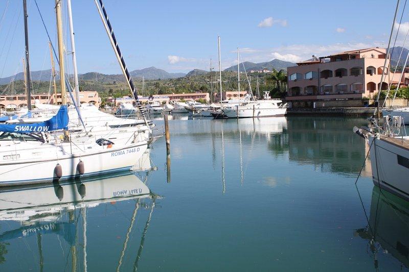 Portorosa, the largest Sicilian marina