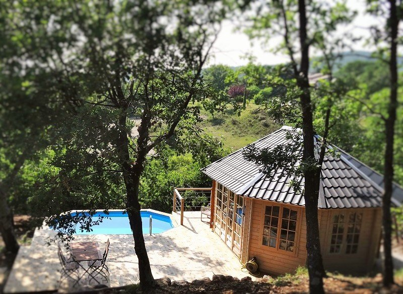 The Vallon des Etoiles: cottage in the countryside, terrace, swimming pool