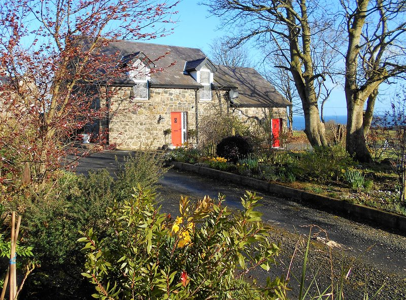 Entrance to The Barn. A beautifully restored field stone cottage set in a picturesque rural setting.