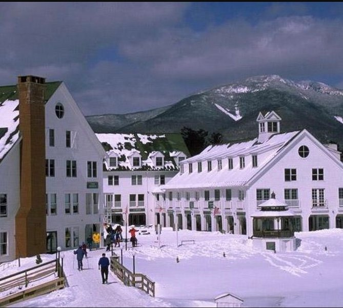 town in the winter