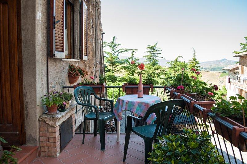 Appartamento con vista sul medioevo, vacation rental in Trevinano