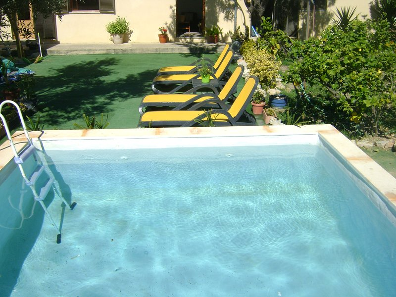 pool and relaxation area