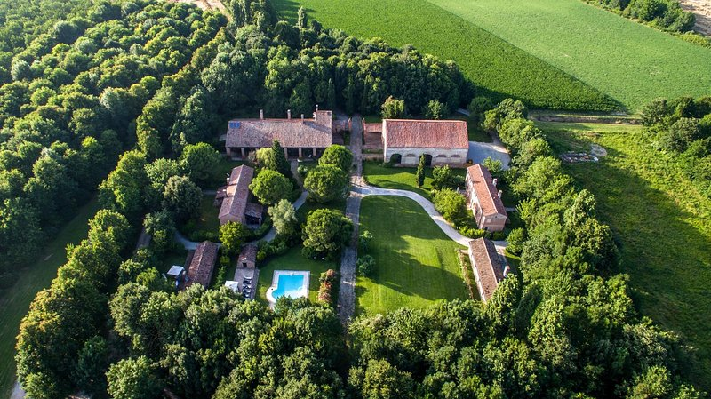 Holiday apartments with swiming pool in a Villa near Venice, holiday rental in Crespino