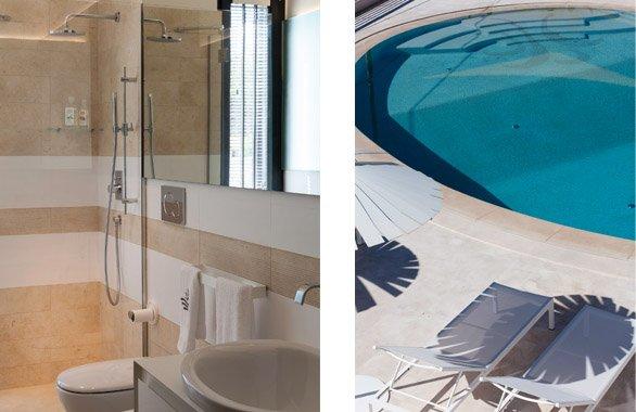 Sole, en suite bathroom and swimming pool