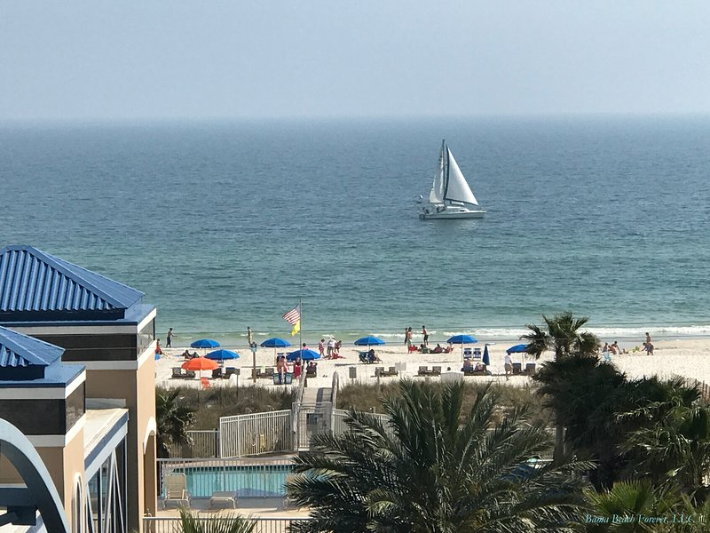 LOOKING OUT TO the GULF of MEXICO. . .