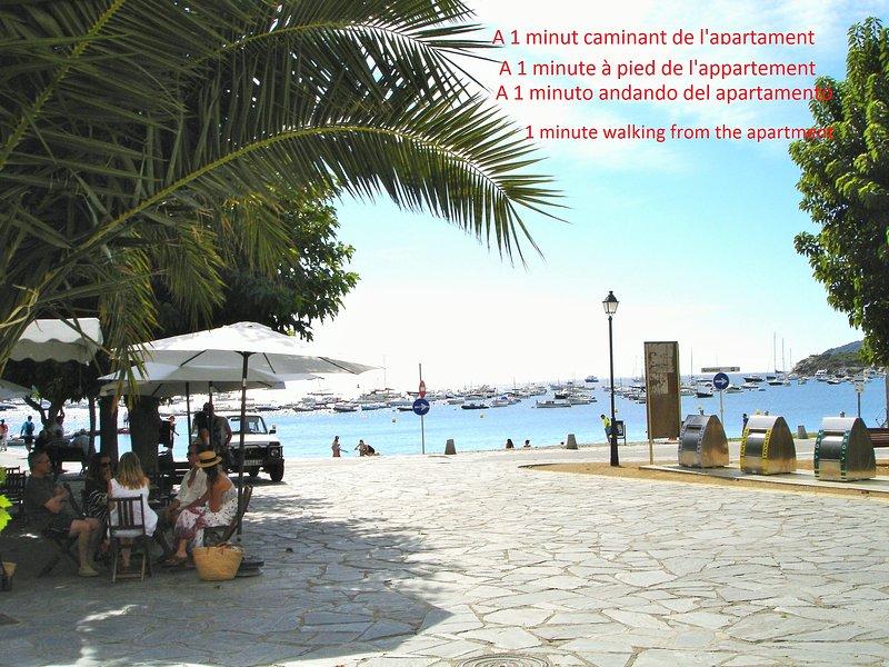 (P15.1.1) CENTRE - VILLE,  ET A 1 MINUTE DE LA PLAGE, alquiler de vacaciones en Cadaqués