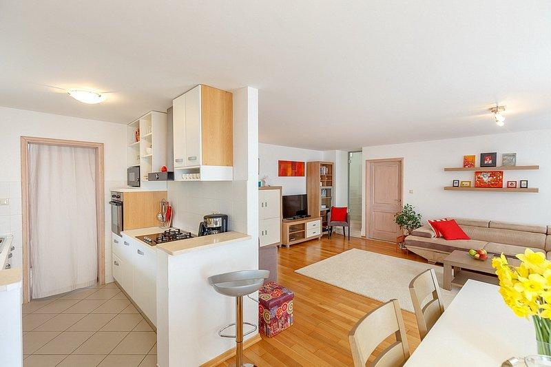 Sala de estar / comedor / cocina