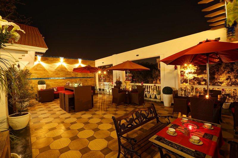 Sai chalet terraza en la azotea de una noche increíble y un gran lugar para relajarse!