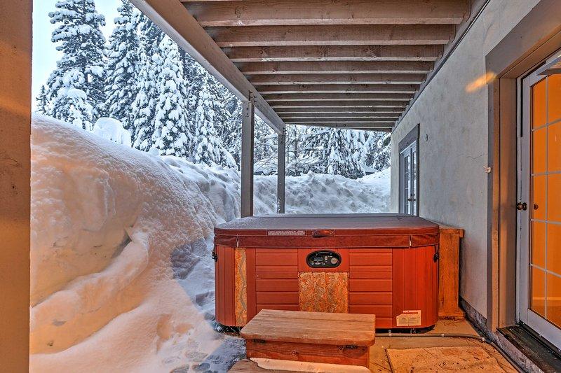 Disfrute de un relajante baño en el jacuzzi privado.