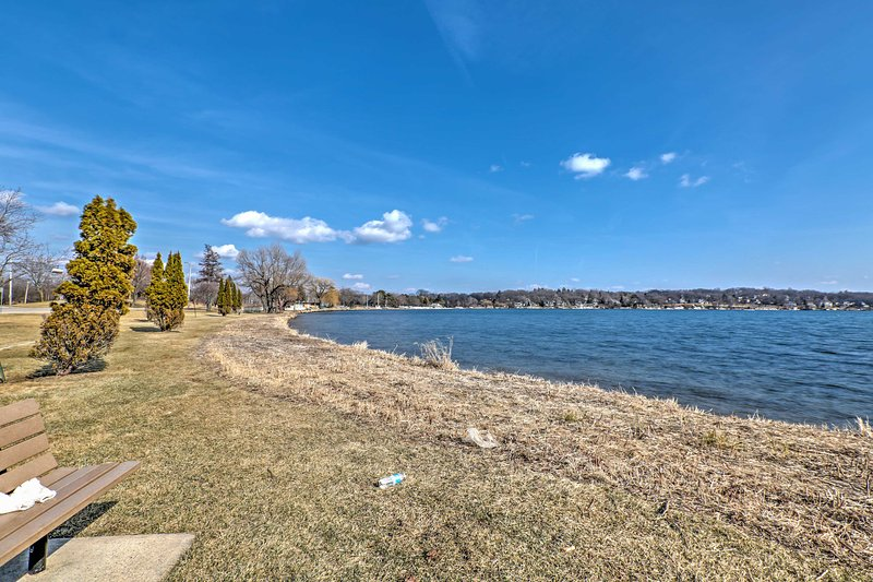 The home is located a short walk from beautiful Lake Geneva.